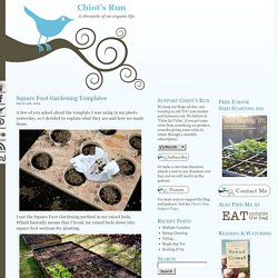 Square Foot Gardening Templates