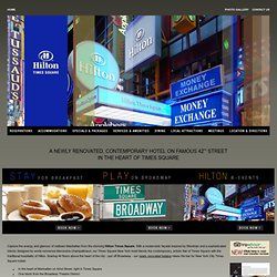 Times Square Hotels: Hilton Times Square Manhattan Hotels in New York City NYC