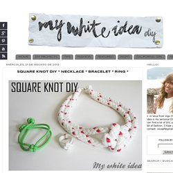 SQUARE KNOT DIY * NECKLACE * BRACELET * RING *