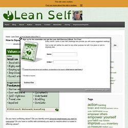 Lean Self - A New Quality of Life
