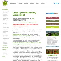Union Square Wednesday Greenmarket