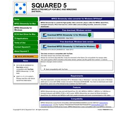Squared 5 - MPEG Streamclip video converter for Windows XP/Vista/7