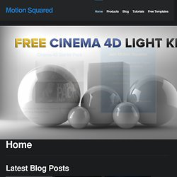 MOTION SQUARED | Cinema 4D Tutorial & After Effects Tutorials