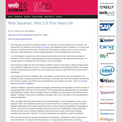 Web Squared: Web 2.0 Five Years On: Web 2.0 Summit 2009 - Co-pro