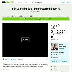 B-Squares: Modular Solar Powered Electrics. by Jordan McRae