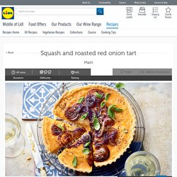 Squash and roasted red onion tart