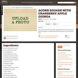 Acorn Squash with Cranberry Apple Quinoa