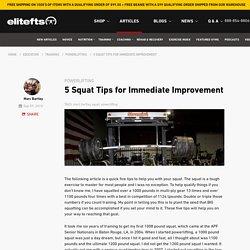 5 Squat Tips for Immediate Improvement