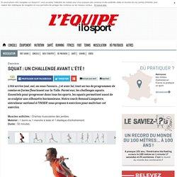 Squat : un challenge avant l'été !