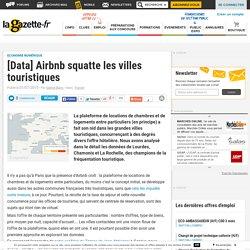 [Data] Airbnb squatte les villes touristiques