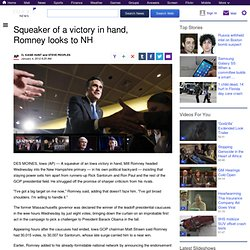 Squeaker of a victory in hand, Romney looks to NH
