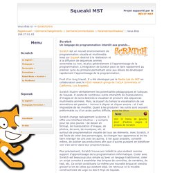 SqueakiMST:ScratchIntro