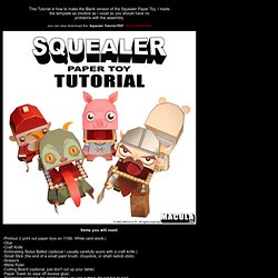 Squealer Paper Toy Tutorial