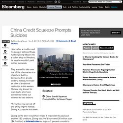 China Credit Squeeze Prompts Suicides, Violence