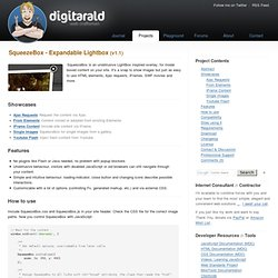 SqueezeBox - Expandable Lightbox » digitarald:Harald K