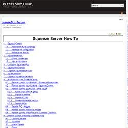 SqueezeBox Server
