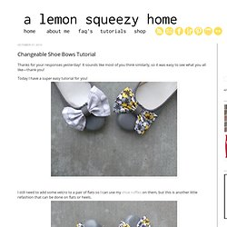 Changeable Shoe Bows Tutorial