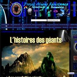 L'histoires des géants et Les squelettes géants. - Project Aliens Résistance.
