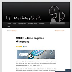 SQUID – Mise en place d'un proxy