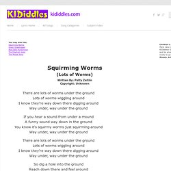Squirming Worms song and lyrics from KIDiddles
