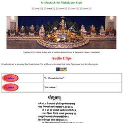 Sri Sukta in Sanskrit
