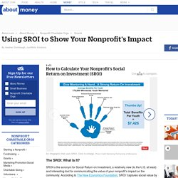 How to Use SROI to Show Your Nonprofit's Impact