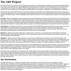 SRP: About the Project