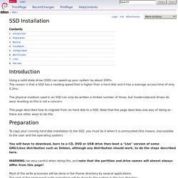 SSD Installation