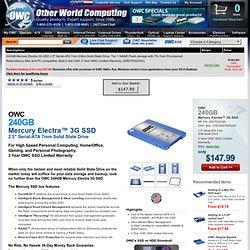 """OWC SSD7E3G240 240GB Mercury Electra 3G SSD 2.5"""""""