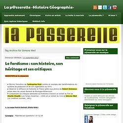 Simone Weil » La p@sserelle -Histoire Géographie-