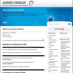 SSH sous Linux Debian - admin Debian