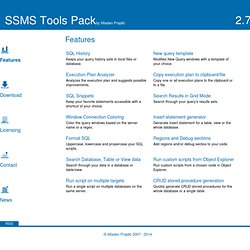 SSMS Tools Pack Features