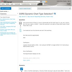 SSRS Dynamic Chart Type Selection?