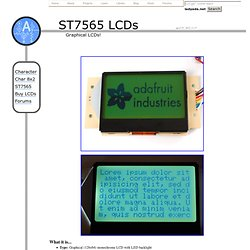 ST7565 LCD tutorial