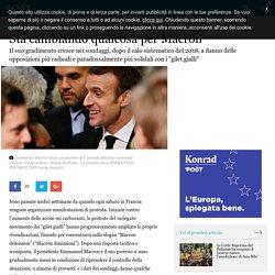 Sta cambiando qualcosa per Macron