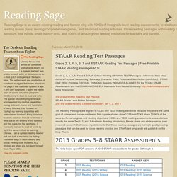 STAAR Reading Test Passages