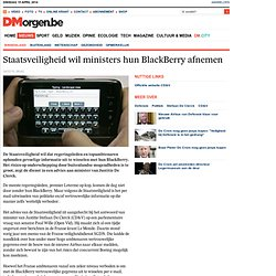 BlackBerry interdit en hollande