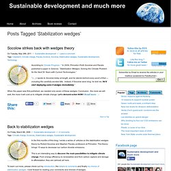 Stabilization wedges :: Sustainable development and much more