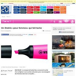 Un Stabilo «pour femmes» qui fait tache