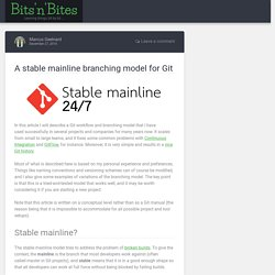 A stable mainline branching model for Git – Bits'n'Bites