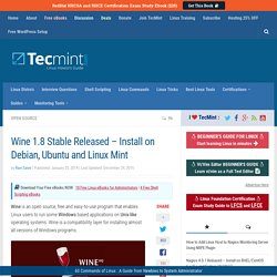 Wine 1.8 Stable Released - Install On Debian, Ubuntu And Linux Mint
