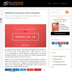 MEAN Stack Components:AngularJS