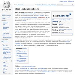 Stack Exchange Network