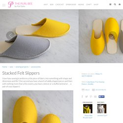 Stacked Felt Slippers