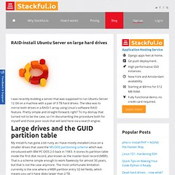 Stackful.io : RAID-install Ubuntu Server on large hard drives