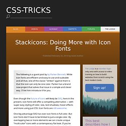 Stackicons: Doing More with Icon Fonts