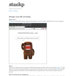 stackp — Droopy: easy file receiving