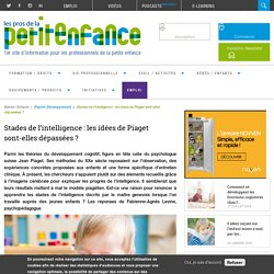 Stades de l'intelligence: les idées de Piaget sont-elles dépassées?