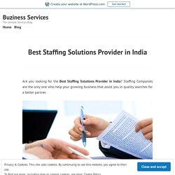 Best Staffing Solutions Provider in India – Buziness Services
