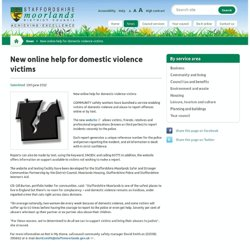 New online help for domestic violence victims